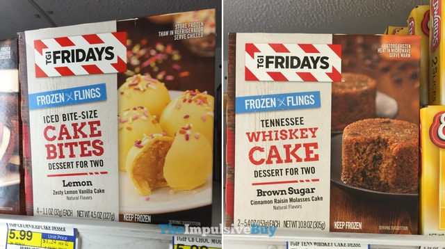TGI Fridays Frozen Flings Lemonk Cake Bites and Tennessee Whiskey Cake