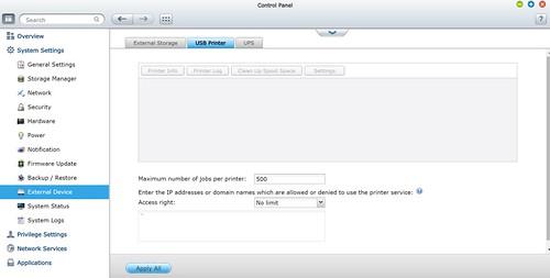 ใช้ QNAP TAS-168 เป็น Printer Server ได้