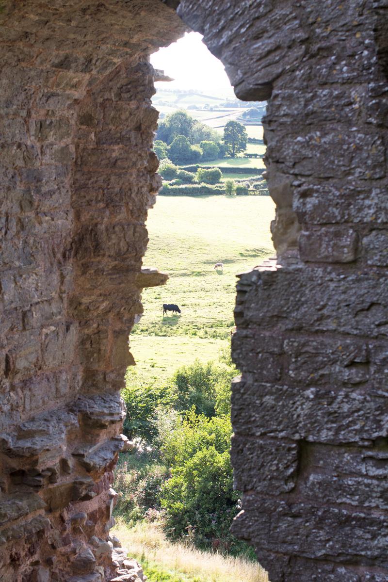 6 clun castle window arch view