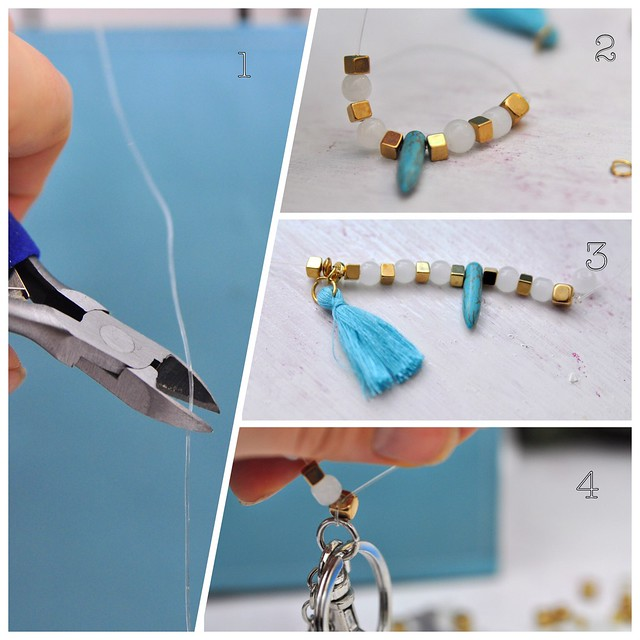 key chain with pearls diy