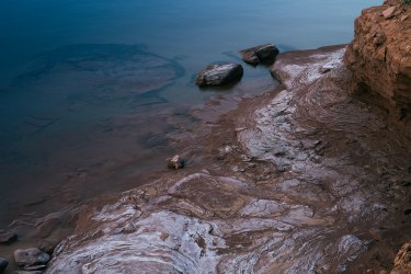 Salt Covered Coastline in Prince Edward Island