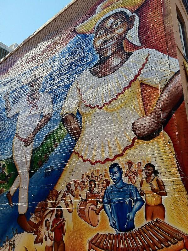 Black broadway mural