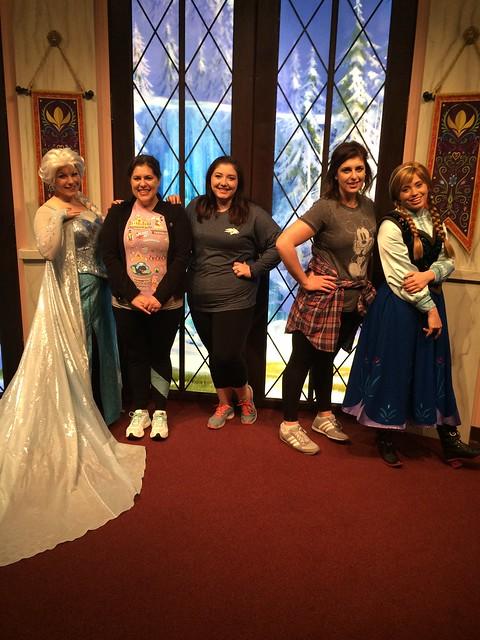 Meeting Elsa and Anna