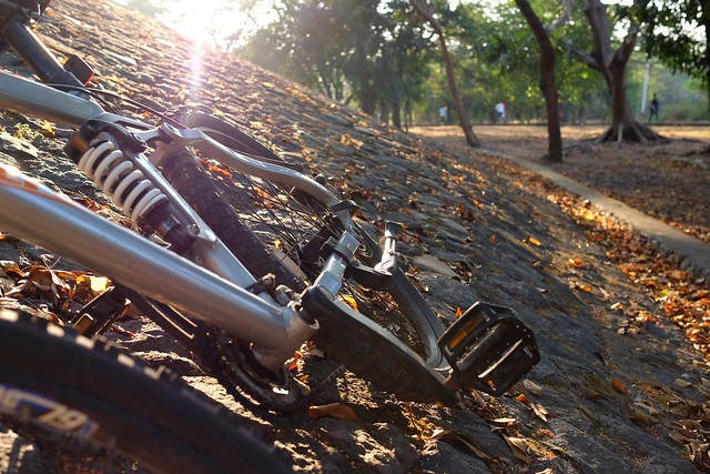 My ride my bicycle, my friend in every morning ? #terfujilah #fujifilm #fujifilmXT1 #sepeda #sehatdenganbersepeda #bicycle