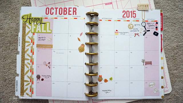 October 2015 Plan With Me