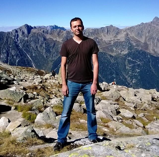 zaid chamonix from aiguille du midi
