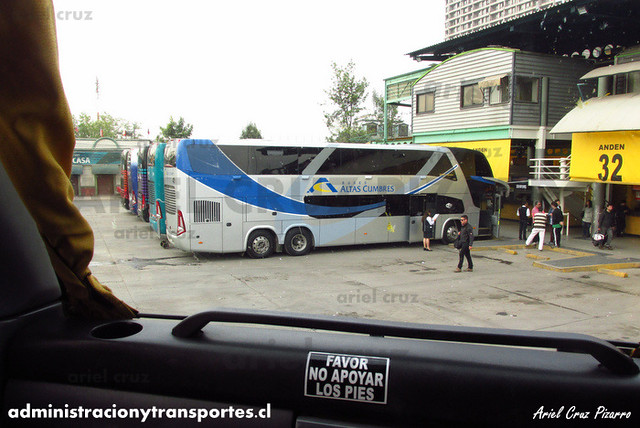 Buses Altas Cumbres - Santiago - Marcopolo Paradiso 1800 DD / Volvo