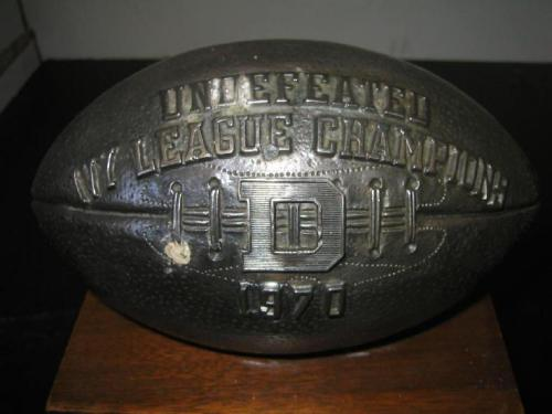 Dartmouth - 1970 Undefeated Ivy League Championship Trophy (5/5)