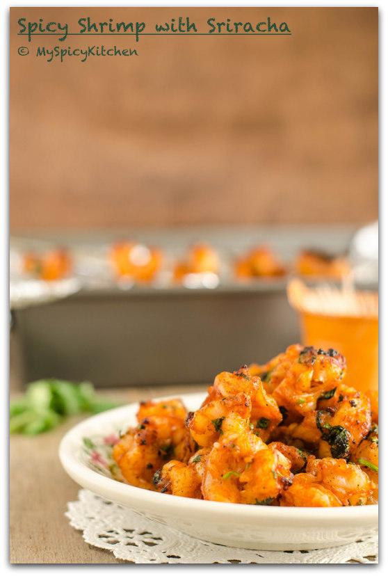 Grilled Shrimp, Broiled Shrimp, Spicy Shrimp, Sriracha Shrimp,