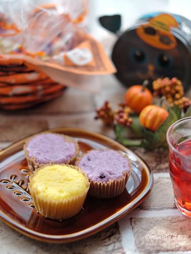 かぼちゃ蒸しパン・紫芋蒸しパン 20151030-DSCF4228