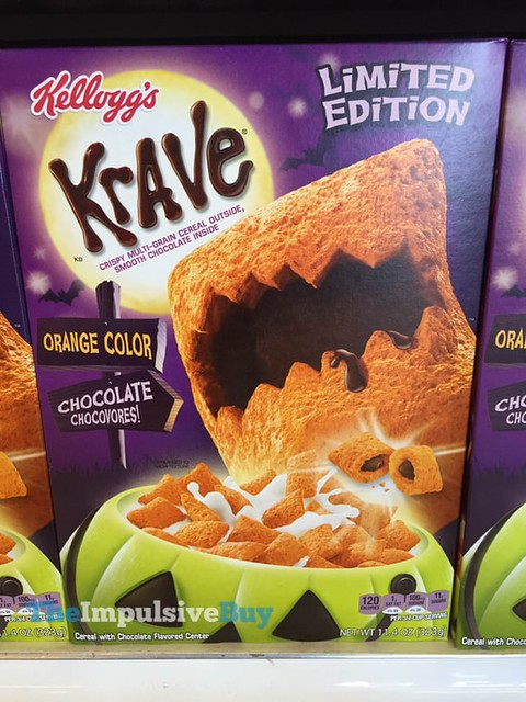 Kellogg's Limited Edition Krave Orange Color Chocolate Cereal