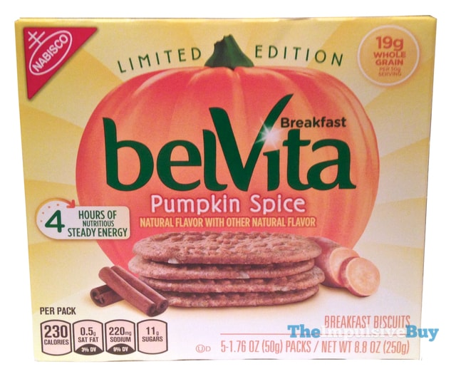Nabisco Limited Edition Pumpkin Spice belVita Breakfast Biscuits