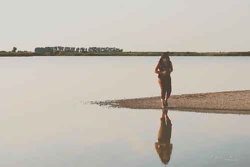 In the evening Salt Lake / Estefelé Szikes tó