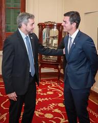 Audiencia con el Gobernador de Salta, Argentina