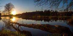 Sunset at 'Tirschenreuther Teichpfanne' - Upper Palatinate, Germany