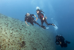 BK amputee diving instructor and diver