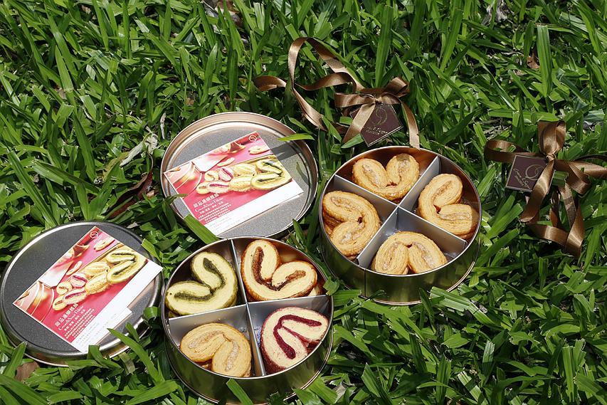 Cream&Sugar,台中伴手禮,台中甜點,台中美食,台中蝴蝶酥,玫瑰金鐵盒,甜忌廉甜點店,紫薯蝴蝶酥,蝴蝶酥 @VIVIYU小世界