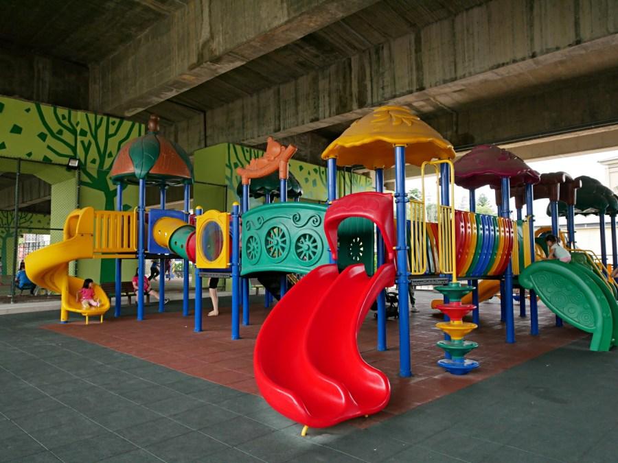 兒童冒險公園,八德公園,八德國道2橋下遊戲場,八德景點,國道2橋下,桃園免費景點,桃園旅遊,桃園景點,礬岩活動,親子旅遊 @VIVIYU小世界