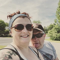 """Taking the t-bucket out for a burger (@boothbait can never take a serious selfie 😂❤️) #summerintheberkshires #twoowuv • <a style=""""font-size:0.8em;"""" href=""""http://www.flickr.com/photos/85938040@N00/48032305371/"""" target=""""_blank"""">View on Flickr</a>"""