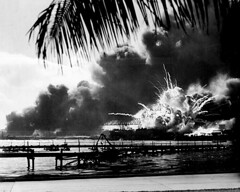 USS SHAW Exploding