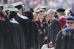 Apple Inc. CEO Tim Cook attends Stanford University's 128th Commencement in Stanford, California, United States on June 16, 2019. (Photo by Yichuan Cao/Sipa USA)