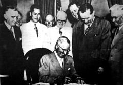 Signing the Organic Act of Guam, 1950