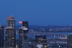 The moon rose on Monday night
