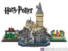 Lego Harry Potter - Hogwarts Skyline MOC
