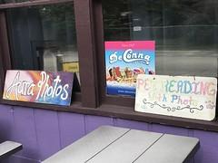 Signs in a Store Window in Cassadaga
