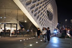 People Walking About The Broad