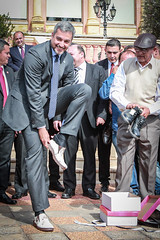 Reunión con representantes de la producción de calzados nacionales.