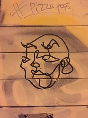 Illustrated face #pizzapops graffiti