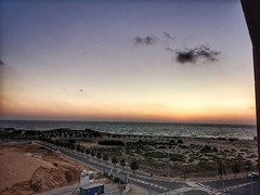 Last view of the sunset, just arrived in Ashdod, city of the Philistines