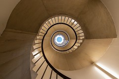 Fibonacci staircase at St John's College, Cambridge, UK