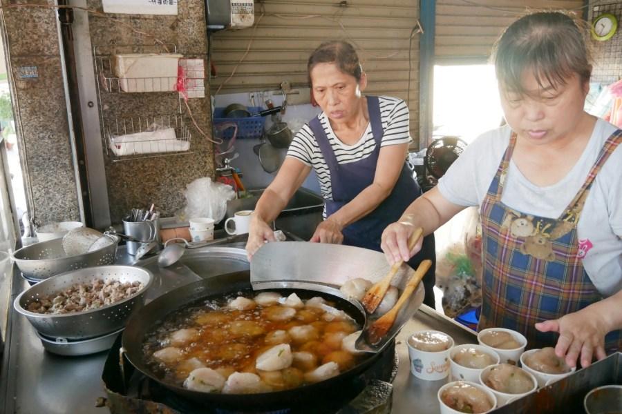 [新竹美食]竹蓮肉圓|新竹傳統小吃.手工製作紅糟肉圓~皮彈肉餡多汁 @VIVIYU小世界