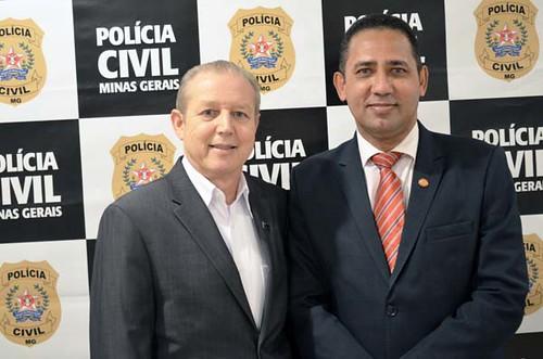 Dr. Gilberto Simão de Melo e José Maria Facundes - Solenidade de entrega da Medalha Distinção Polícia Civil de 2019 - Foto Emmanuel Franco (2)