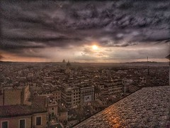 Rome seem from the rooftops at Spanish Steps