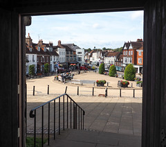 Battle - Abbey Green and High Street from the Abbey entrance