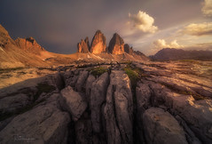 Sunset at Tre Cime