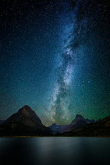 The Milky Way over Swiftcurrent Lake