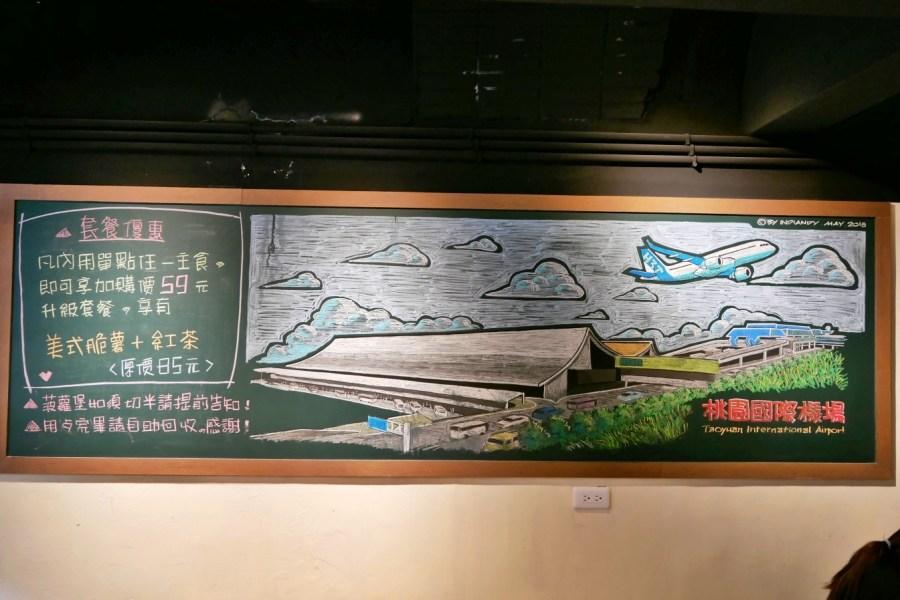 [桃園美食]吐柴主碳烤吐司  中正藝文特區巷弄裡的文青早餐 黑板上有著漂亮板畫塗鴉懷舊課桌風格 @VIVIYU小世界