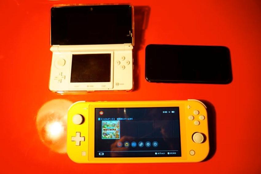Switch Lite 3DS iPhone大きさ比較