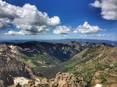 View of Chicago Basin from the summit of Windom Peak