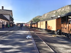 Getting on the train in Durango, CO