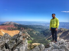 My friend Michael Levy celebrates a Capitol Peak summit :)