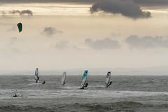 Windsurfers Avon Beach Mudeford