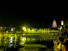Musical Fountain and light show at the wild goose pagoda