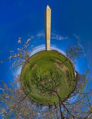Washington Monument Tiny Planet