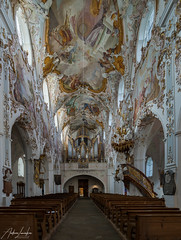 Blick zur Orgel Mariä Geburt (Rottenbuch)