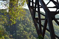 Rapelling, New River Gorge